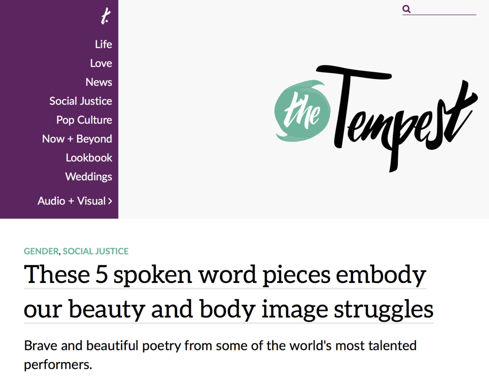 THE TEMPEST - Prettybirds, pretty words, and loving our bodies.