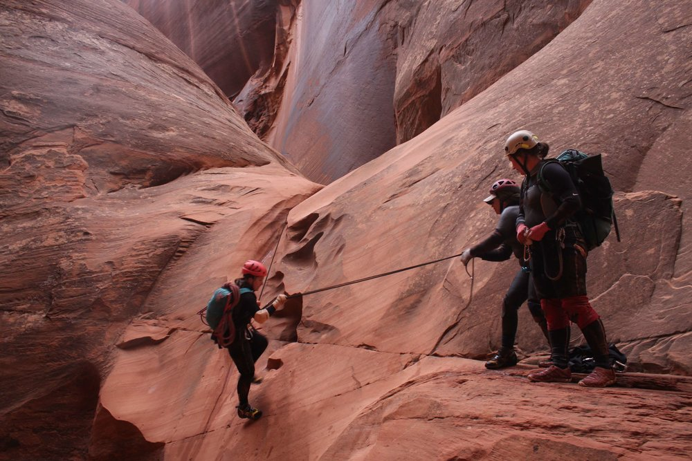 Hire canyoneering guides or instructors.