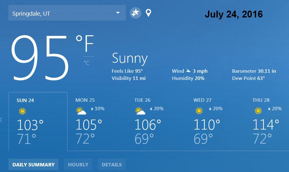 Yep. Warm.