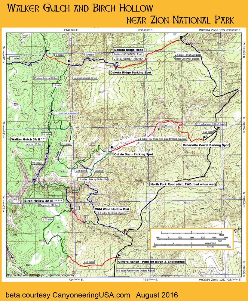 Walker Gulch Map