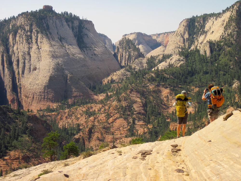 Hiking the ridge down into Phantom Valley