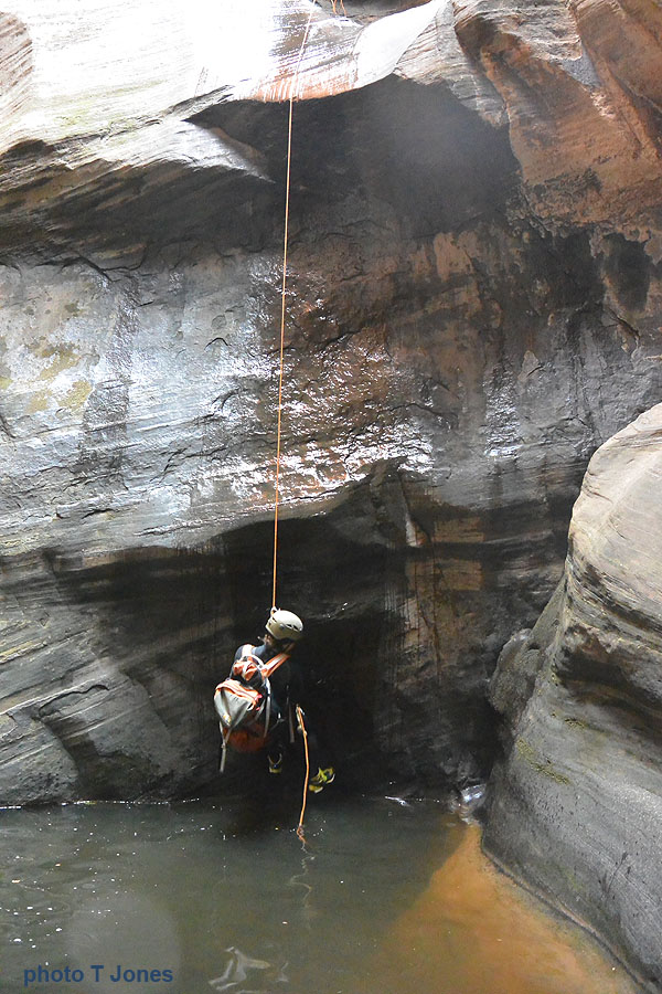 One of many rappels