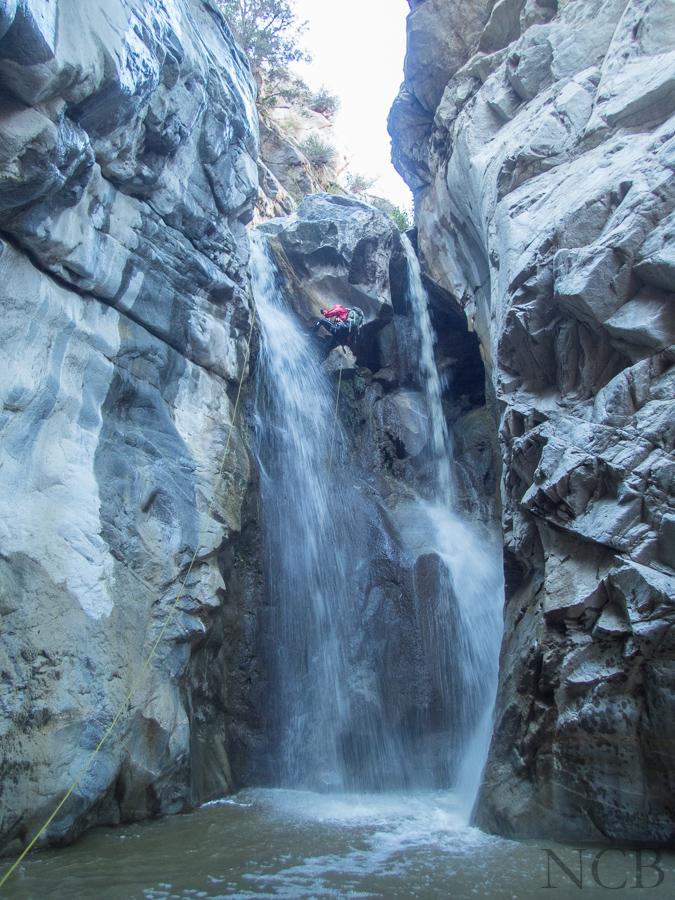 A split waterfall