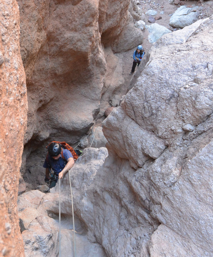 Another awkward rappel.