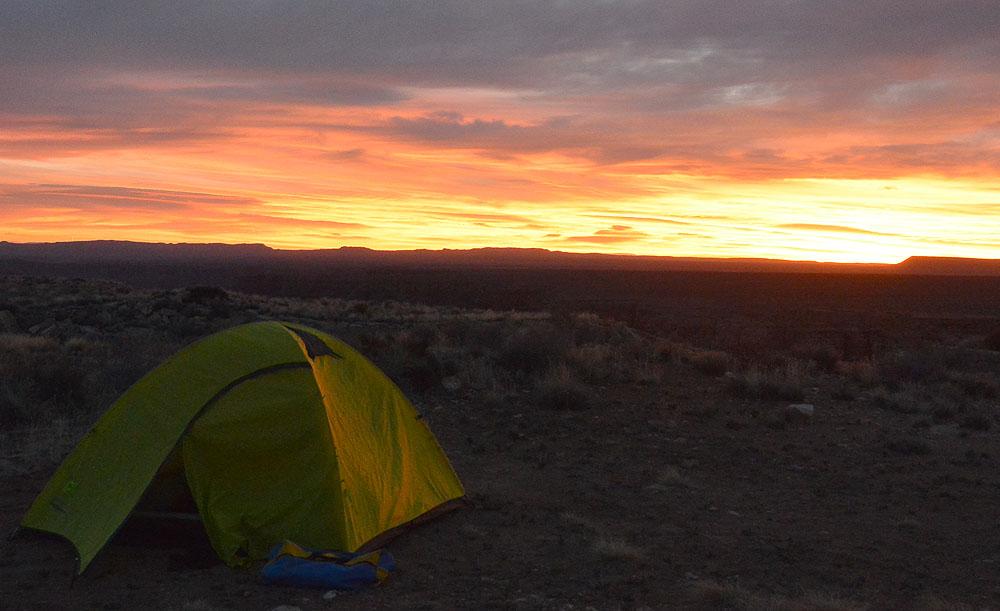 Sunrise at the South Canyon Trailhead