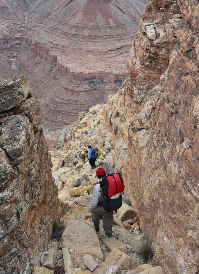 Steep. Looking down from the Kaibab