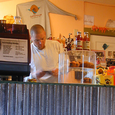 Mornings in Zion begin at the Mean Bean, where Joe serves up Springdale's primo Java.
