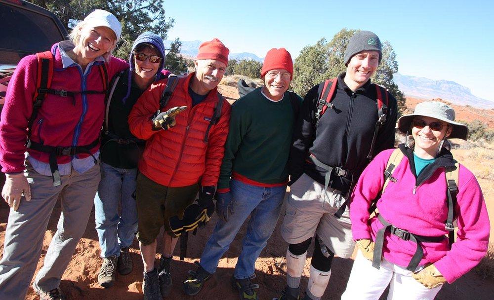 Hail hail the gangs all here: Jane (1), Jane (2), Steve, Roger, Dave, Deb. (North Wash)
