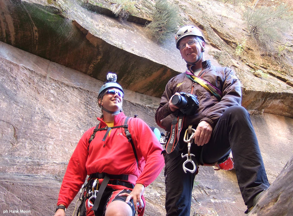 Jamie and Tom, the photo team. (Mystery Canyon)