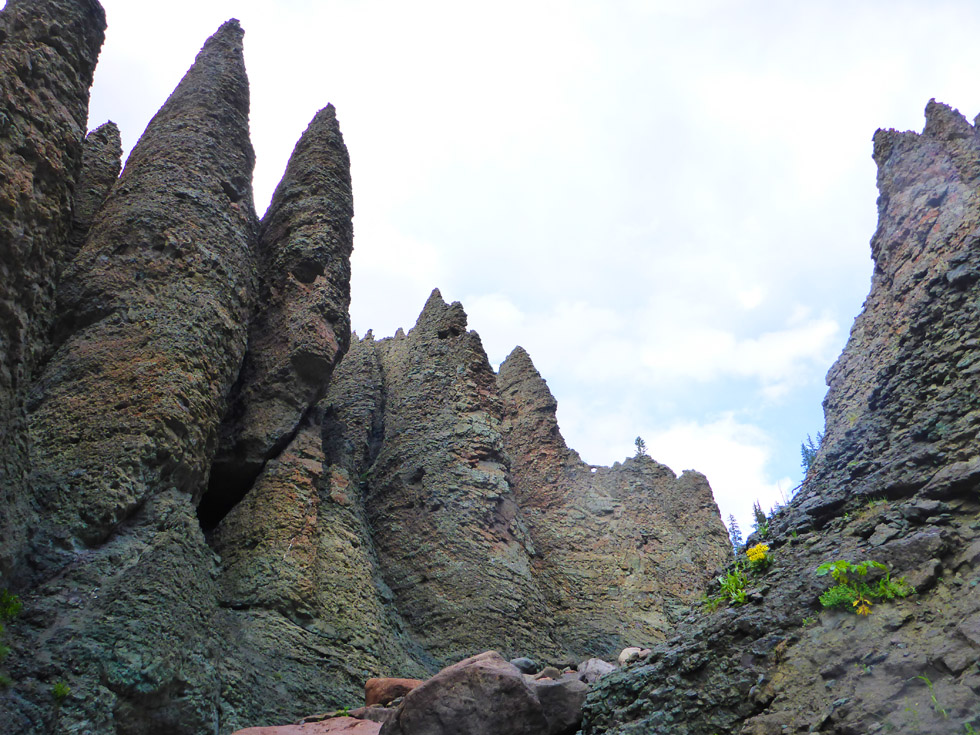 Soaring spires of choss