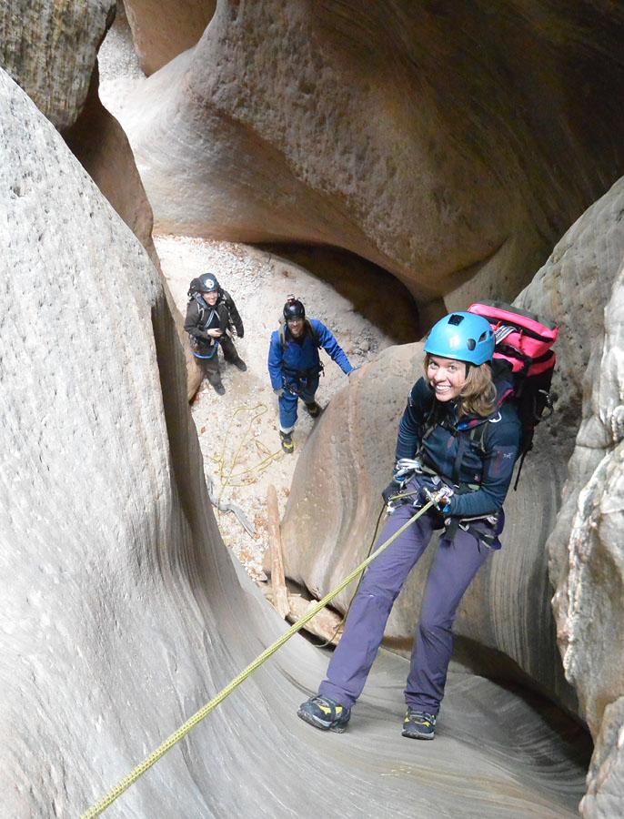 Rappel in the Rock Narrows