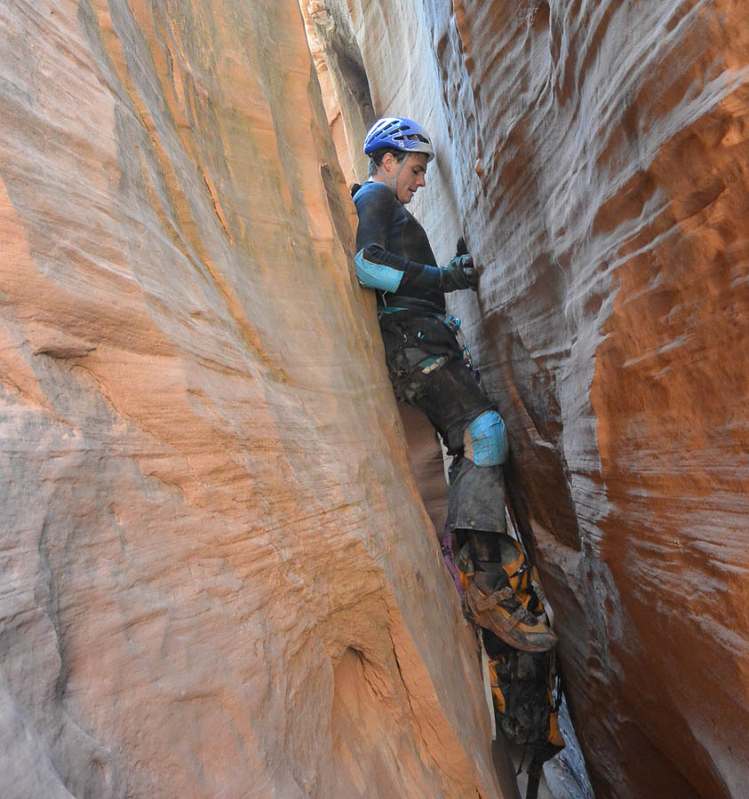 Brian working across a narrow section