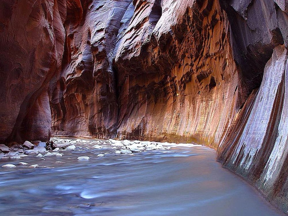 Zion Narrows Water Levels - The North Fork River Gauge is an important, if unobvious, tool for all Zion visitors.More about reading Zion water levels >>