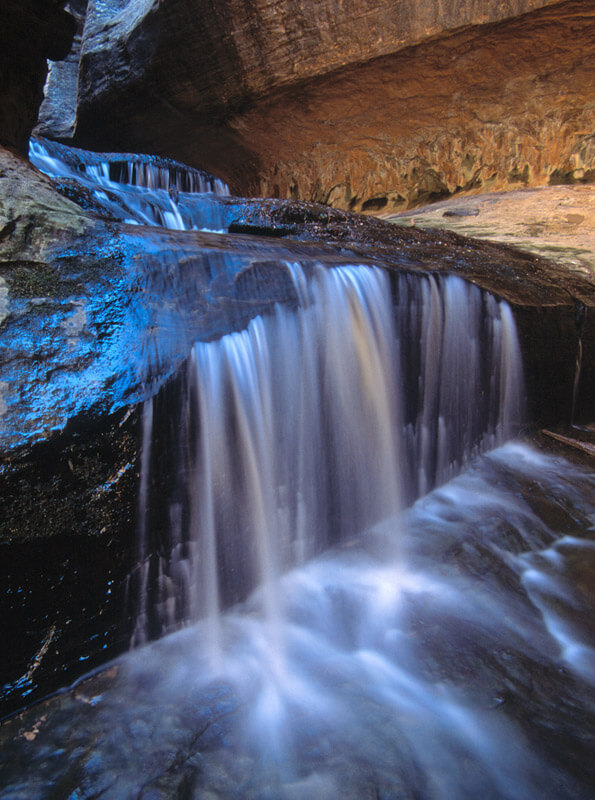 A little waterfall made big