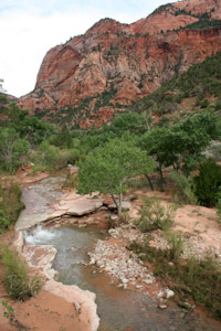 Kolob Arch via LaVerkin Creek