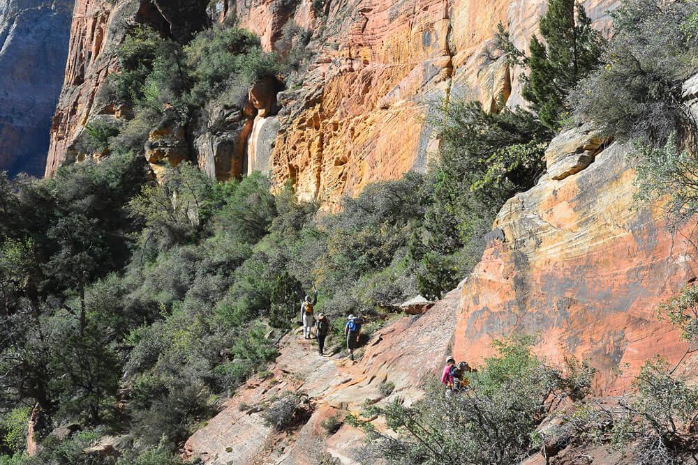 Crossing Lady Mtn Trail