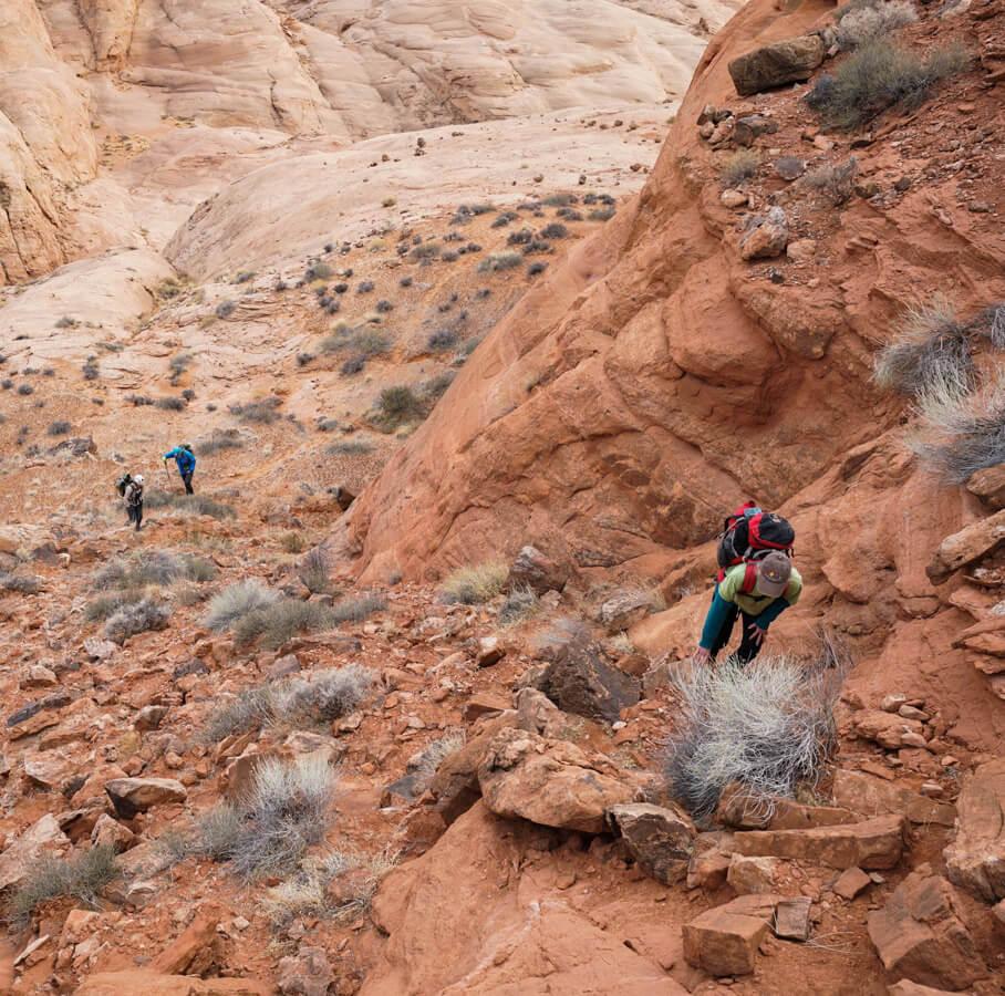 Climbing to the Rim