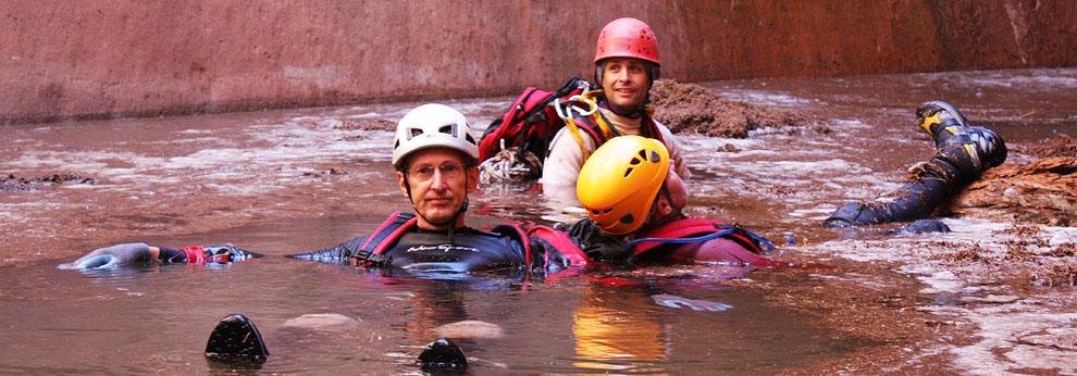 More canyoneers floating around in a cesspool