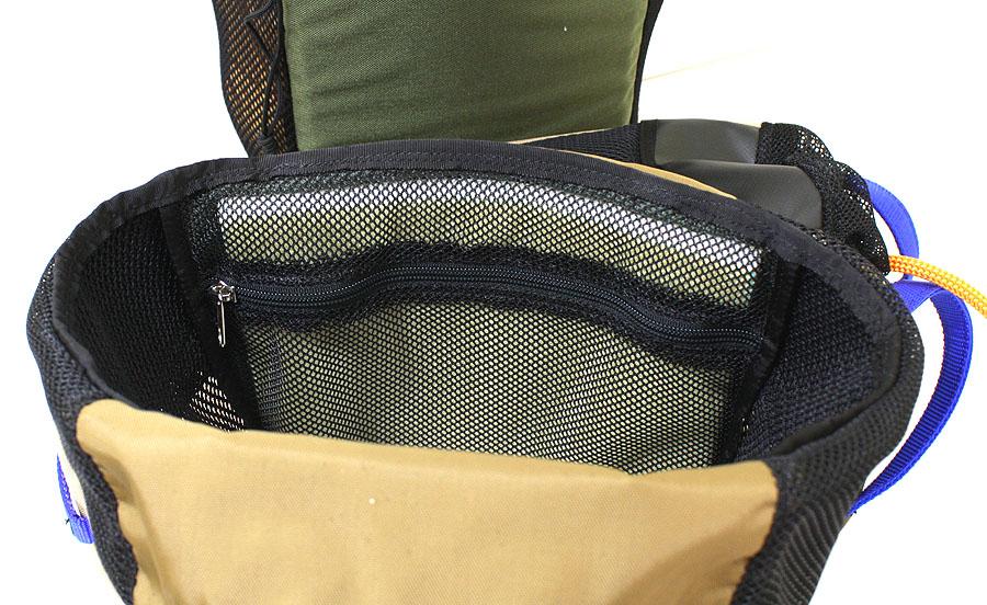 Zipper allowing foam access