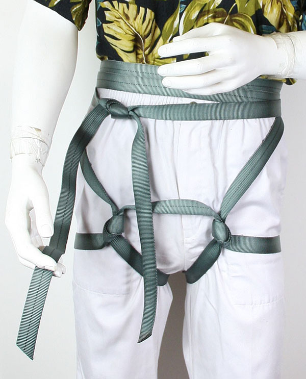 Complete Water Knot and tighten waist snug