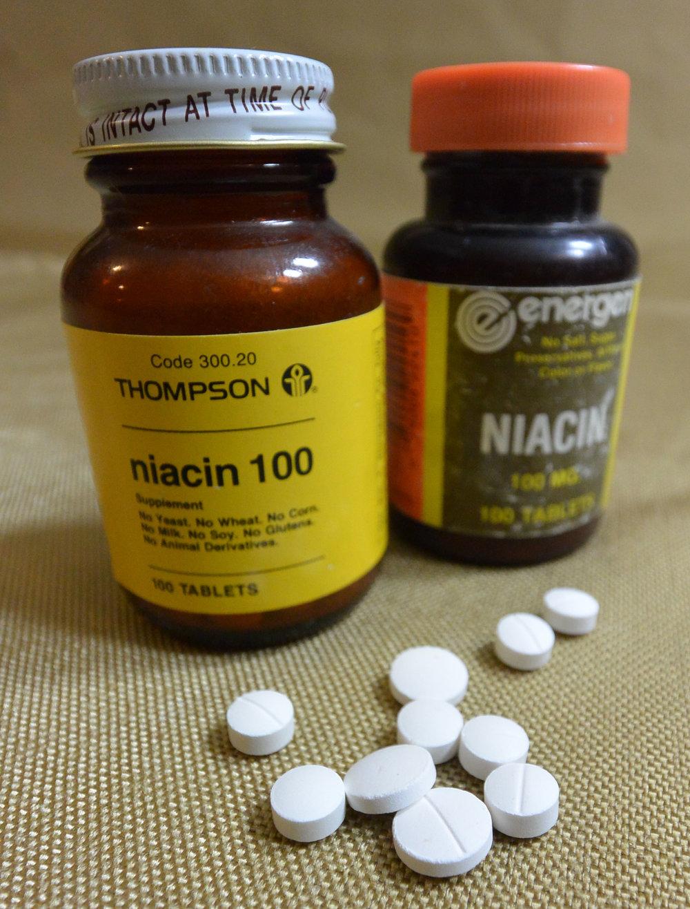 100mg Niacin tablets