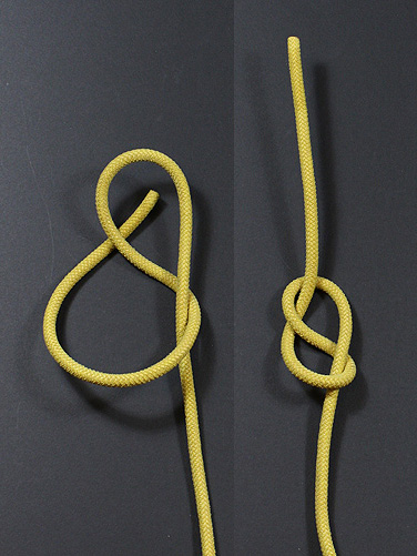 FIGURE EIGHT KNOT ON AN END - 2. The next knot of interest is the Figure Eight knot. Figure Eight knots are tied similarly to overhand knots, except, before entering the loop, the end takes another half-turn around the standing part.Uses: Like the Overhand Knot, the main use for Figure Eight knots is as a building block for other knots like the Figure Eight on a Bight.