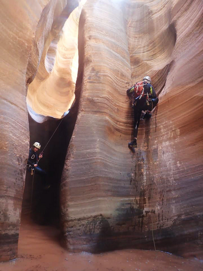 Balanced rappel first narrows