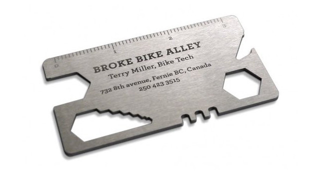 Great business card ideas - bike repair shop