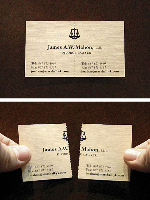 Great business card ideas - a divorce lawyer