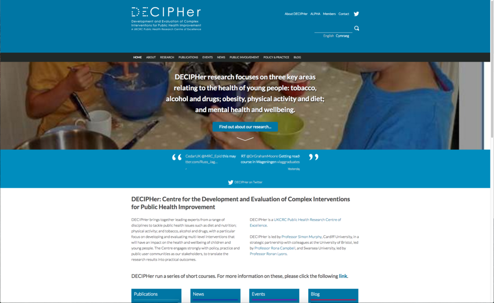 Decipher research website for Cardiff, Bristol and Bath University