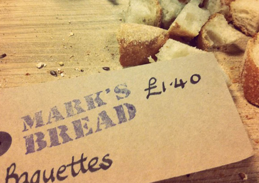 Mark's Bread - nice use of 'off the shelf' tags with stamp and pen!