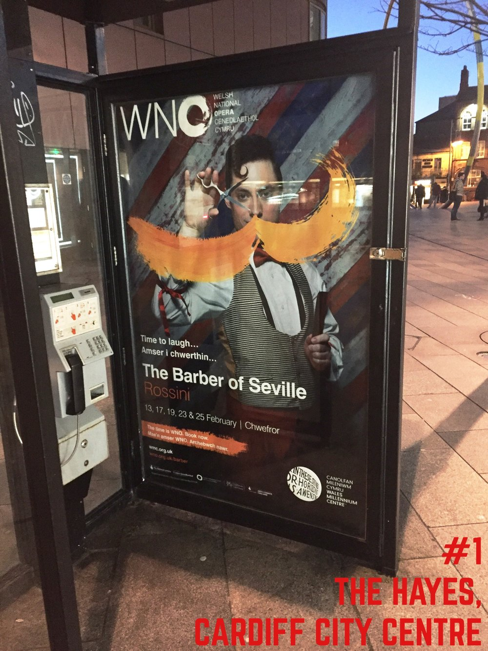 Barber of Seville poster spotted in the Hayes