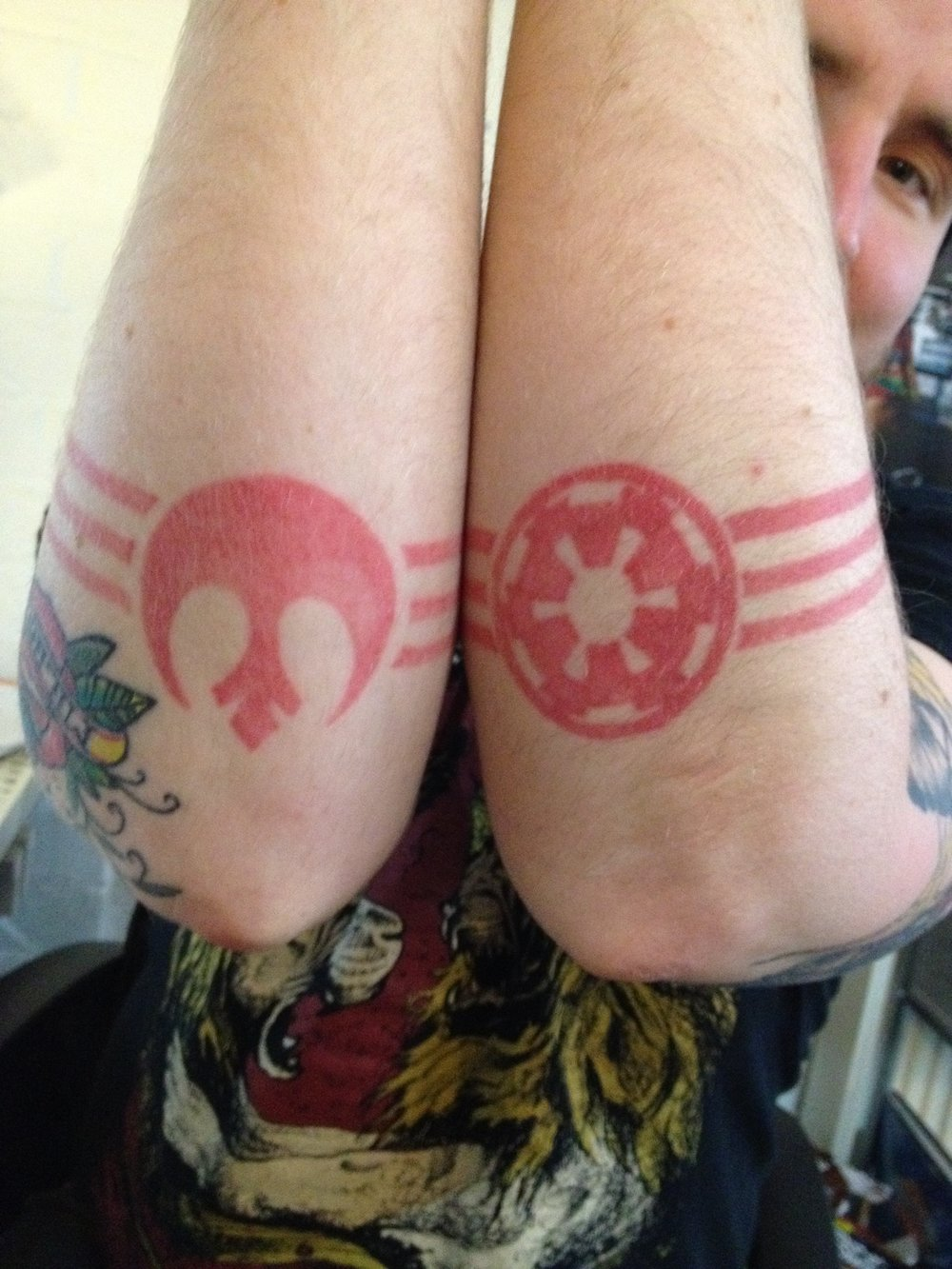 Michael's Rebellion and Empire Star Wars tattoo