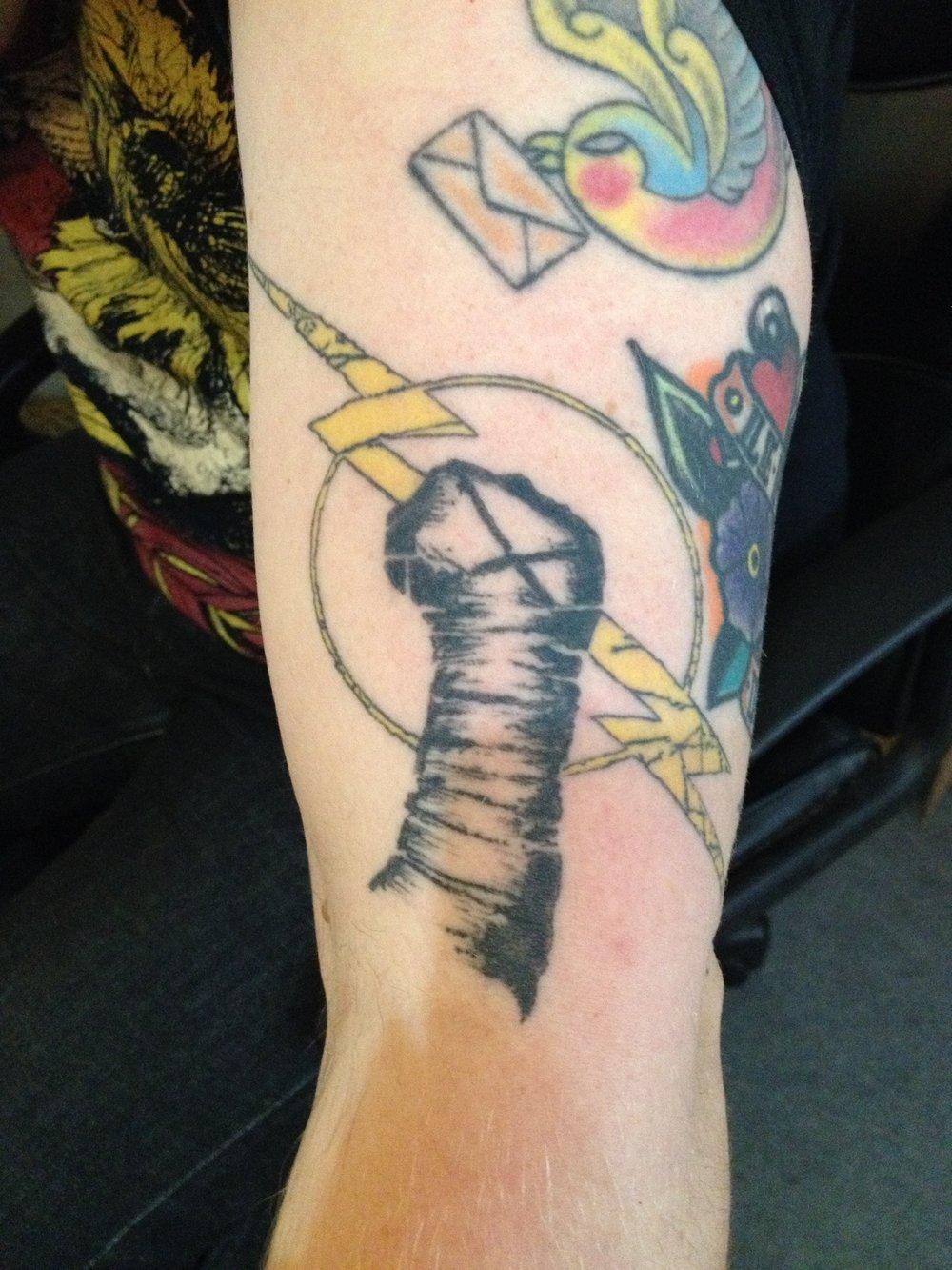 Michael's CM Punk WWE tattoo