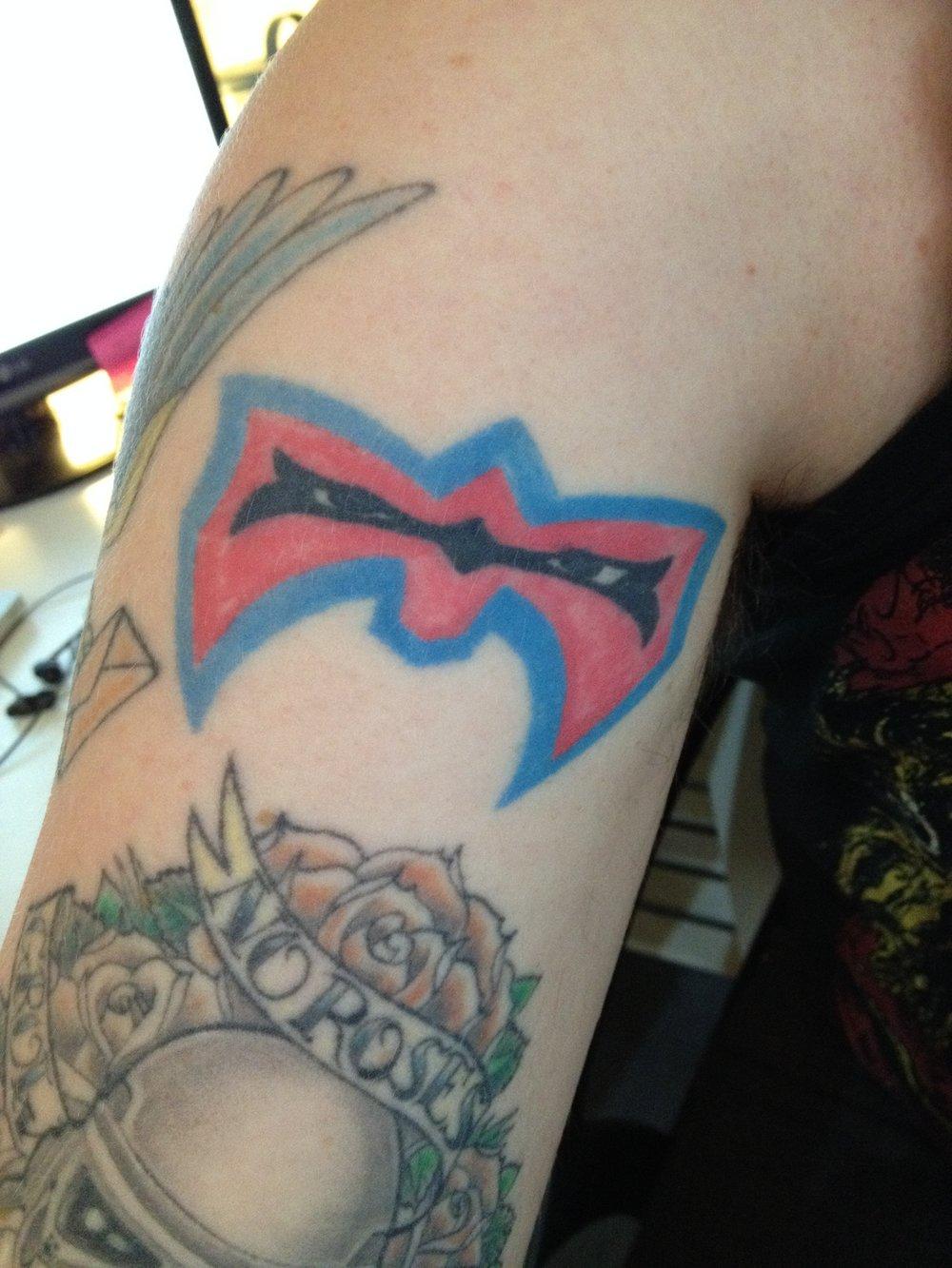 Michael's WWE tattoo