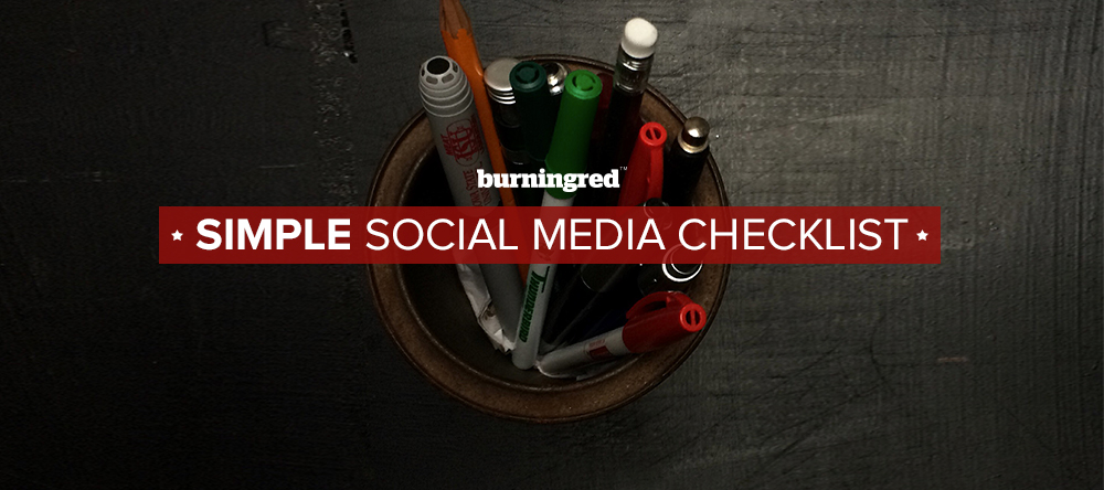 Simple social media strategy checklist