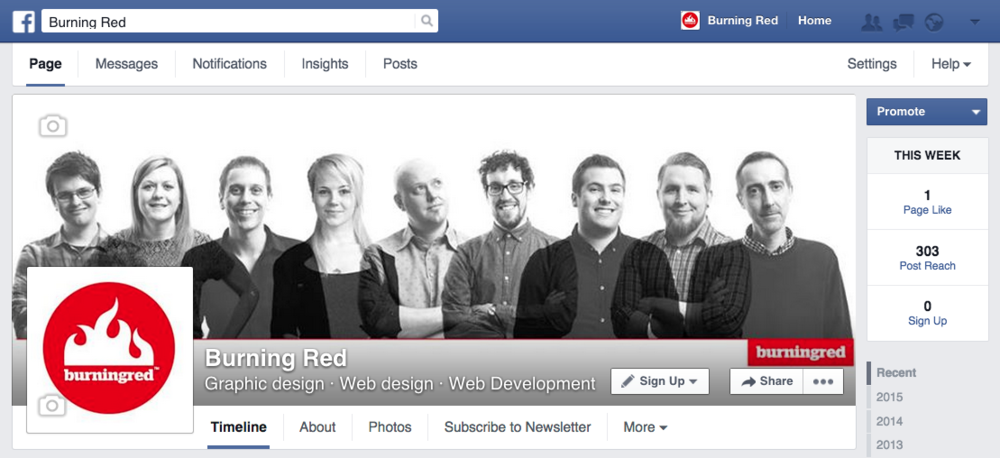 Burning Red Facebook page