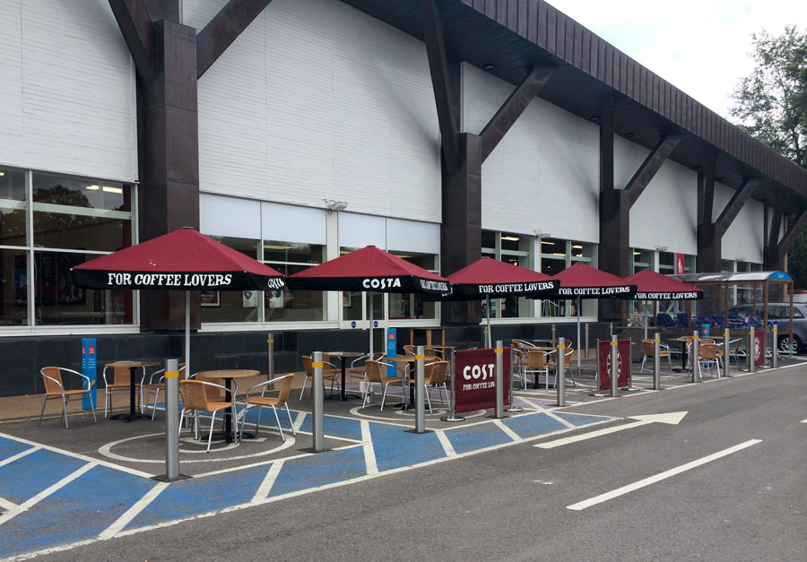 Costa coffee seating