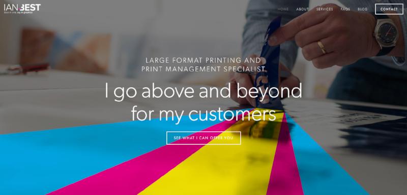 Ian Best - Professional brochure marketing website