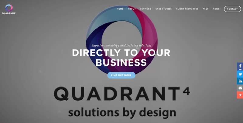 Quadrant 4 - website design and build with video