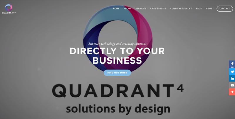 Quadrant 4 - website design and build with video
