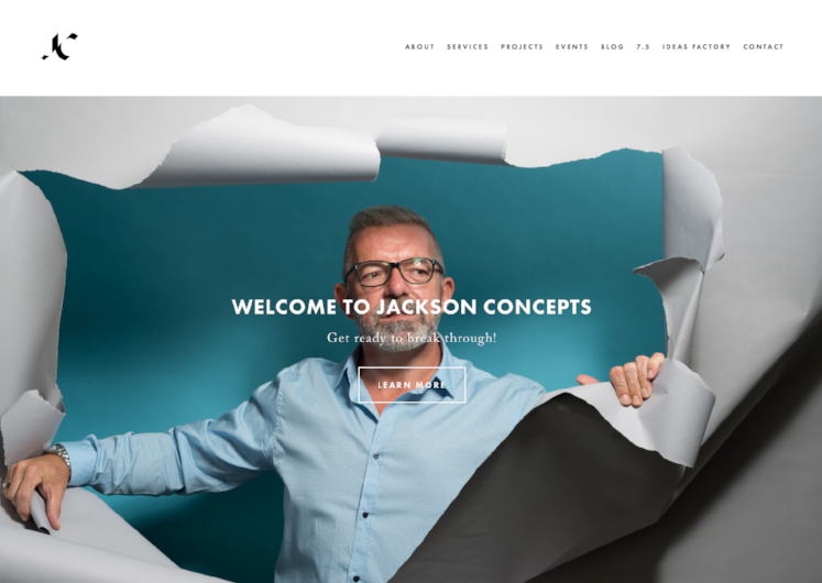 Jackson concepts - small business brochure website