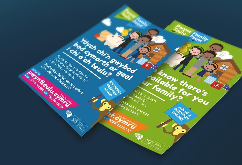 FamilyPoint Cymru - Third Sector Website, Advert Design and Development