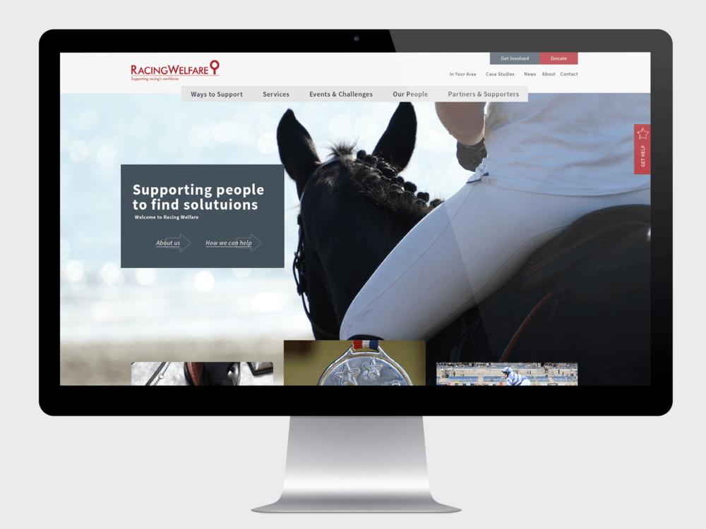 Racing Welfare - Racing Charity Website Design and Development