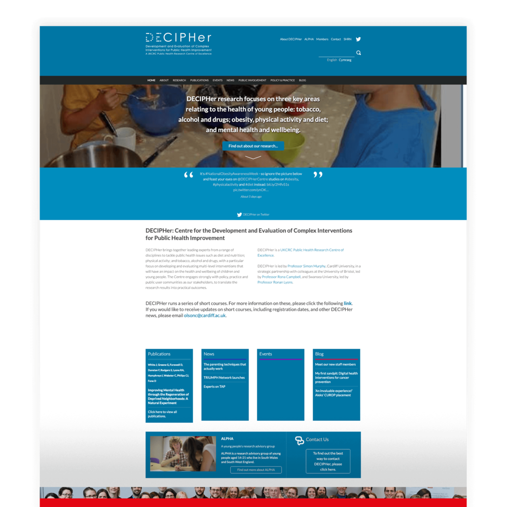 DECHIPHer - Academic Research and Evaluation Website Design and Development