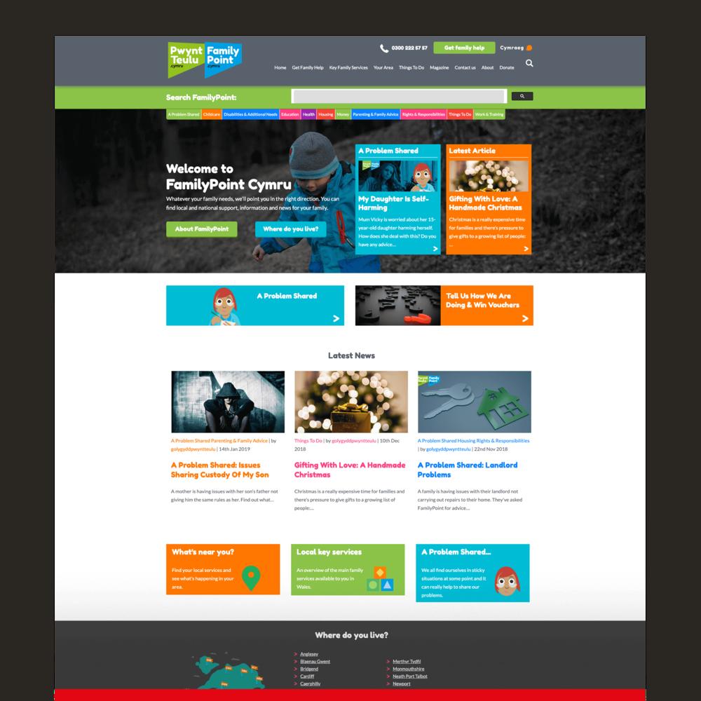 FamilyPoint Cymru - Third Sector Website Design and Development