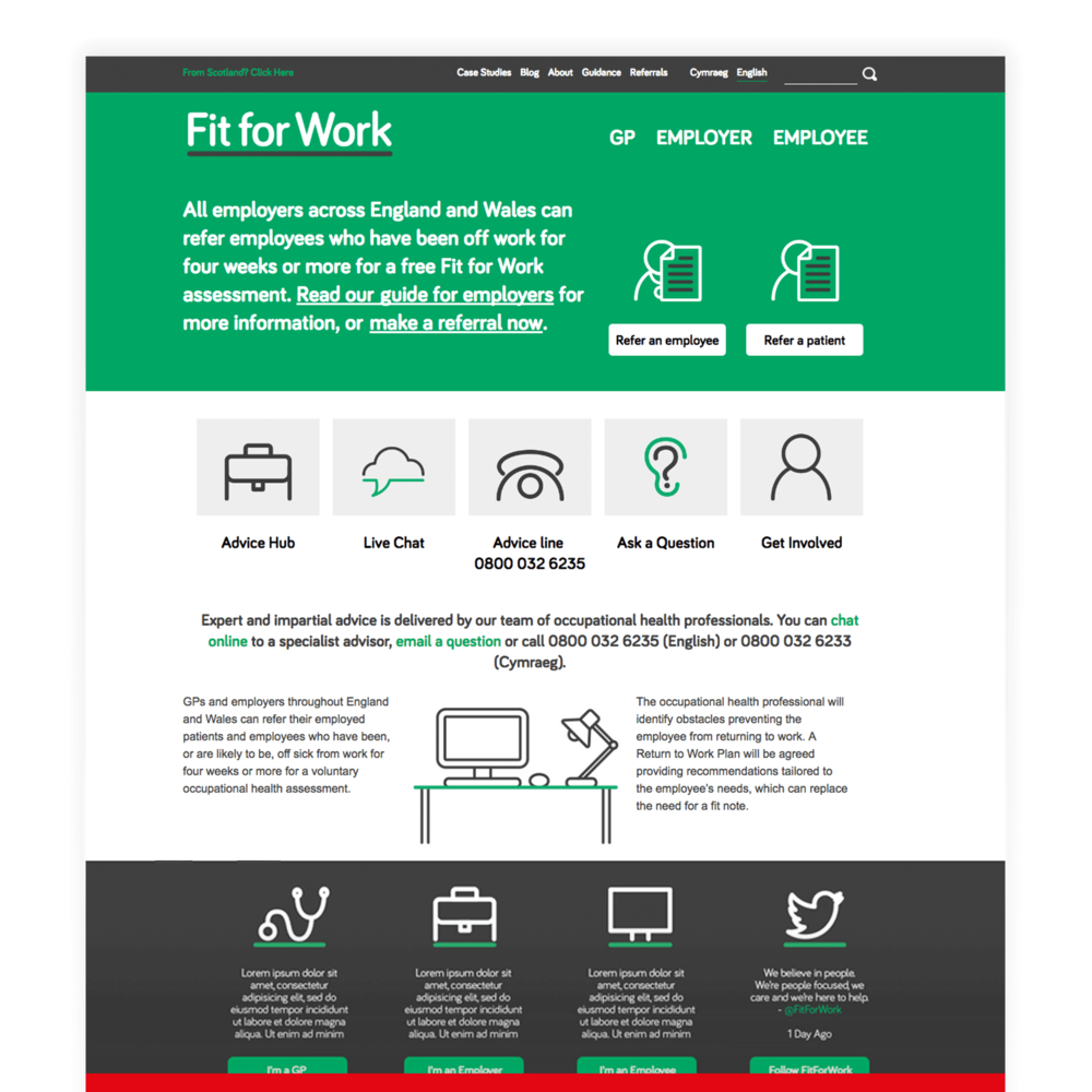 Fit For Work - Website Design and Development for Third Sector