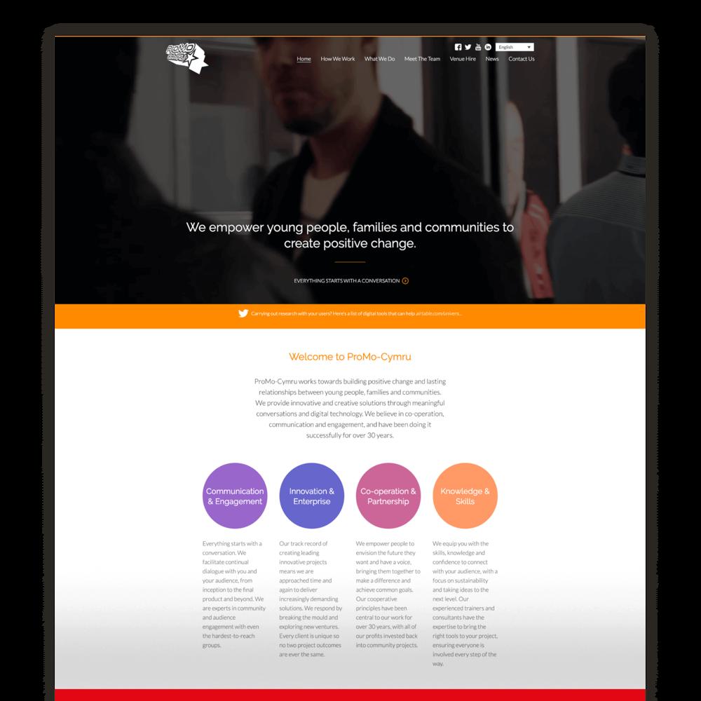 ProMo-Cymru - Charity Website Design for Third Sector Organisation