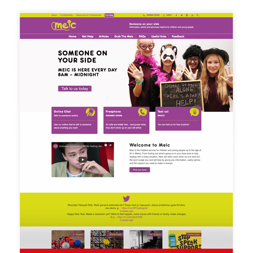 Meic Cymru - Third Sector Website Design and Development