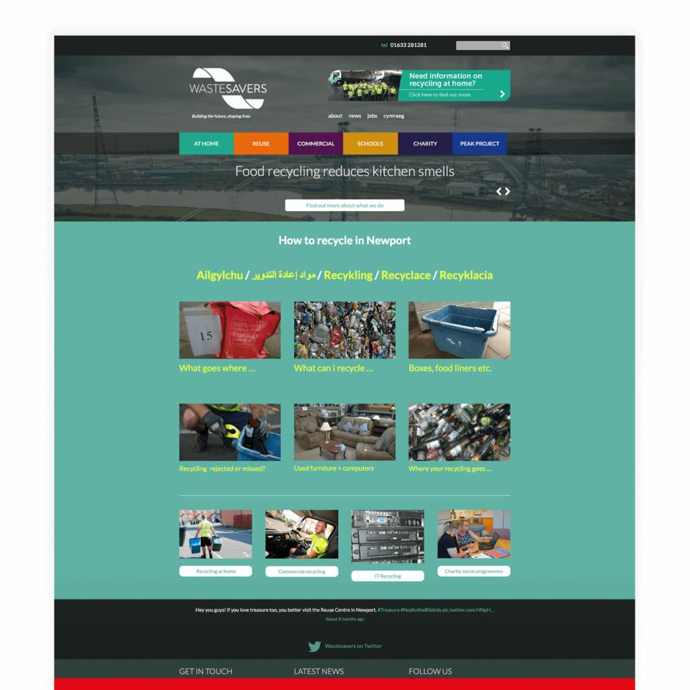 Wastesavers - Charity Non-for-Profit Website Design and Development